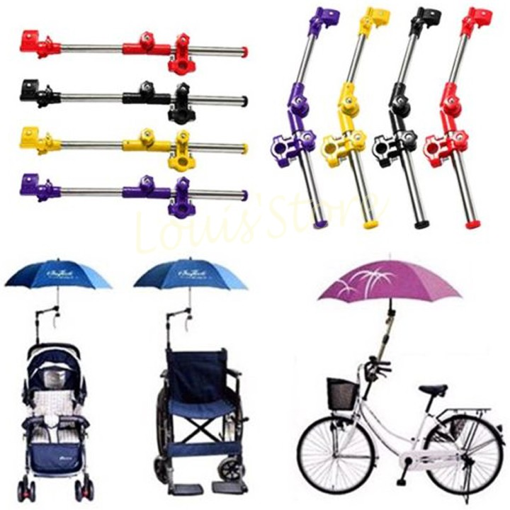 Wheelchair Bike Bicycle Stroller Chair Umbrella Bracket Bar Holder Stand Folding