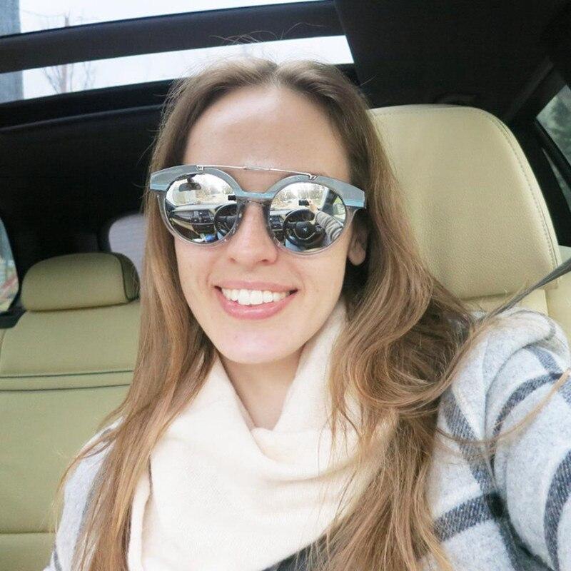 LONSY New Fashion Vintage Solglasögon Kvinnor Märke Designer - Kläder tillbehör - Foto 2