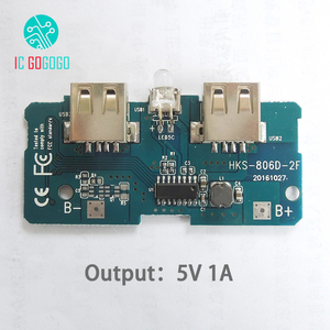 Image 4 - 5V 1A 2A Power Bank Charger Module Step Up Boost Power Supply Charging PCB Circuit Board DIY Dual USB Output LED Powerbank
