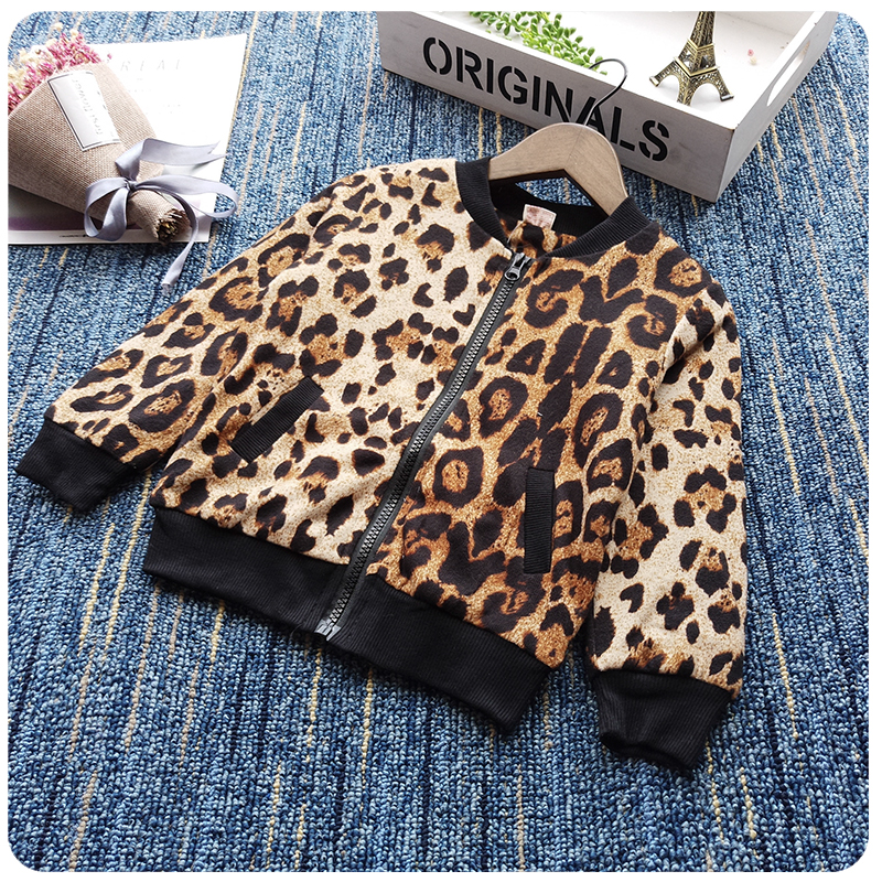 Girls Leopard Print Cacket Spring Autumn Jacket 3 8 Year Child Coat Girl Outerwear Jackets For