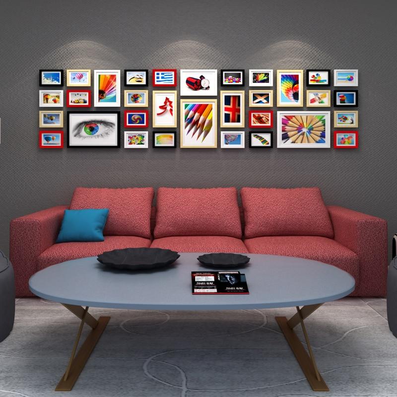 Holz Bilderrahmen Kreative Fotowand Rahmen Set Europäischen Large ...
