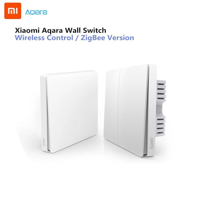 Xiao Mi Aqara Wall Switch Smart ZigBee Zero Line Fire Wire Light Remote Control Wireless Key Wall Switch Without Neutral Mi Home