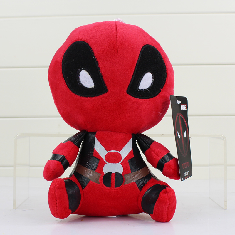 20cm 1Pcs Deadpool Plush Soft Stuffed Dead pool Super hero Spiderman Plush Doll Toy for kids gifts
