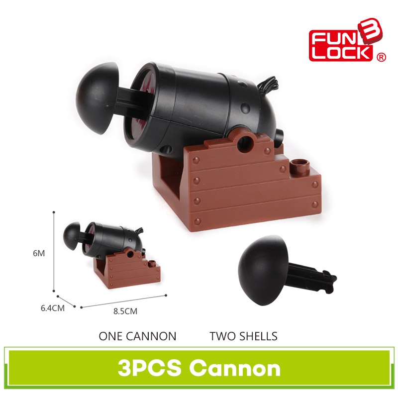 Funlock Duplo Building Blocks Toys Cannon Assemble Accessories Bricks for Kids Children funlock duplo blocks toys farm animal figures bunny cat dog cow pony pig sheep rooster educational toys for kids gifts
