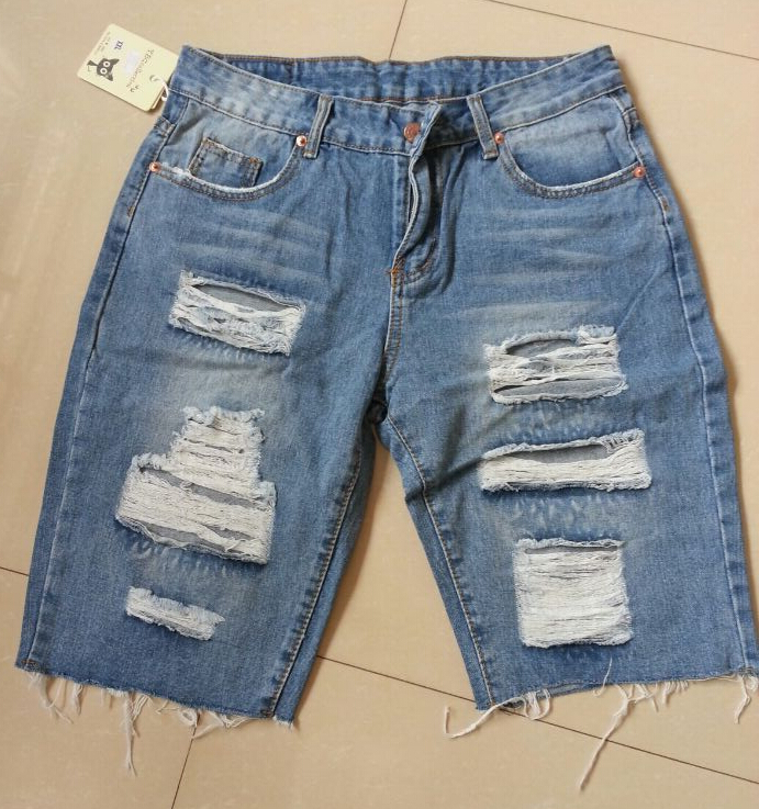 Ripped Jeans Shorts | Bbg Clothing