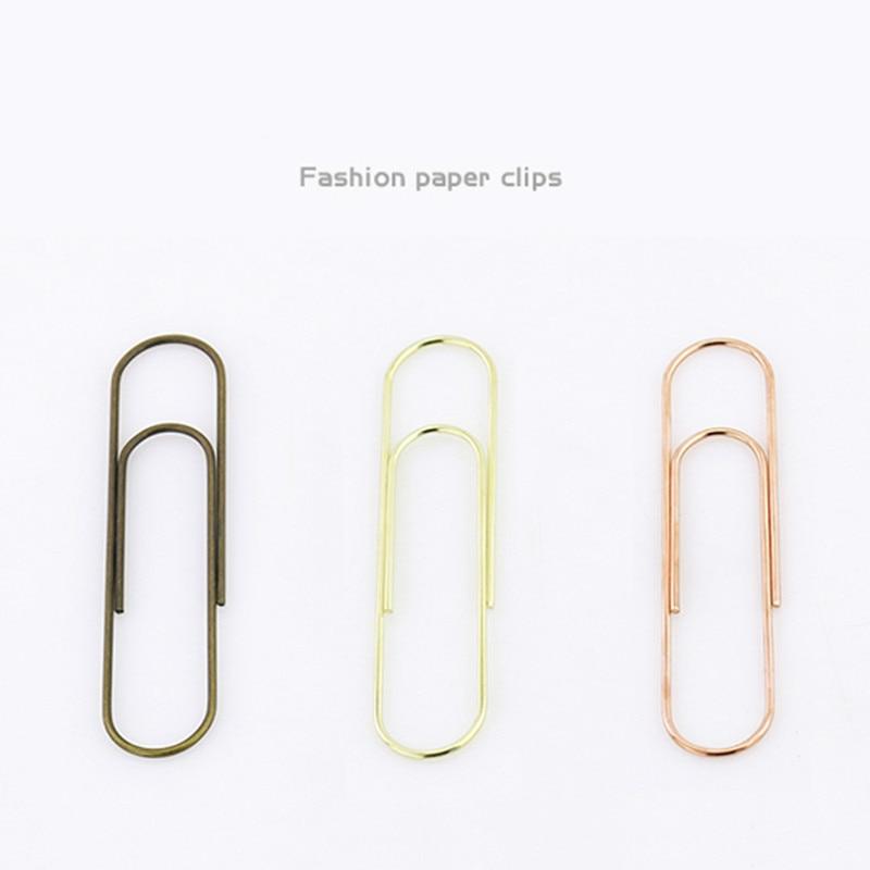 100mm Super Large Paper Clip Electroplating Imitation Gold Rose Gold Bronze Multifunctional Stationery Bookmark Shool Stationary