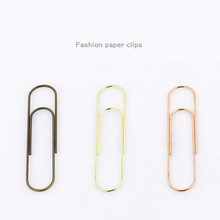100mm Super Large Paper Clip Electroplating Imitation Gold Rose Bronze Multifunctional Stationery Bookmark Shool Stationary