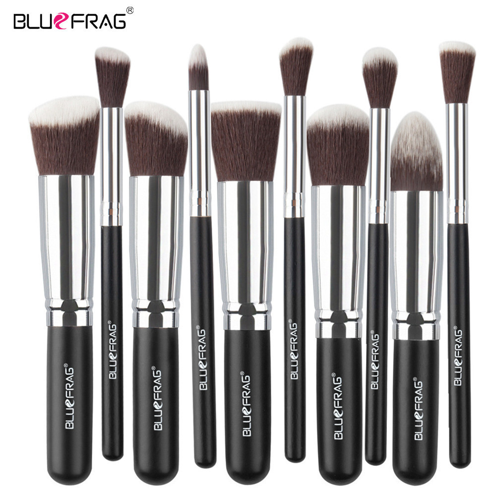 BLUEFRAG Makeup Brushes Professional Cosmetic Eyeshadow Powder Foundation Blending Blush Lip Beauty Tools Kit Pinsel 4/10pcs Set new 32 pcs makeup brush set powder foundation eyeshadow eyeliner lip cosmetic brushes kit beauty tools fm88