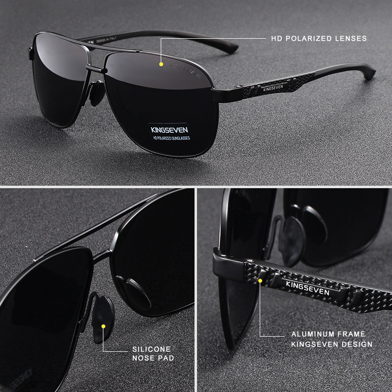 463dcaf5b9 KINGSEVEN 2018 Brand Men Aluminum Sunglasses HD Polarized UV400 Mirror Male  Sun Glasses Women For Men Oculos de sol