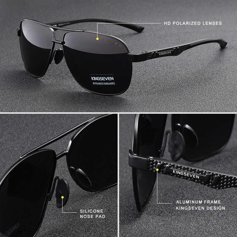 KINGSEVEN 2020 Marke Männer Aluminium Sonnenbrille Polarisierte UV400 Spiegel Männlichen Sonnenbrille Frauen Für Männer Oculos de sol