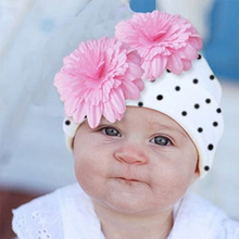 Beauty flower baby hat for baby photography accessories spring warm beanies for infant newborn crochet knitted hats for girls