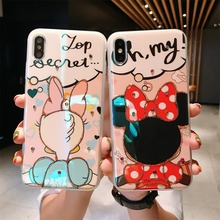 Cartoon Cute Minnie Daisy Blu-ray Soft Phone Case for iPhone7case 6 6s 8Plus silicon TPU iphone X XR XS MAX capa