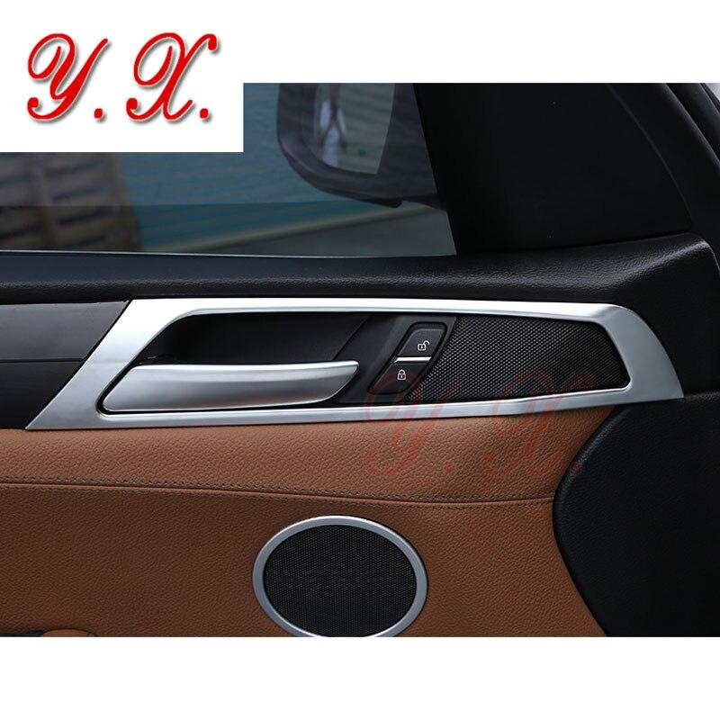 Style de voiture pour BMW X3 porte intérieure décorative Chrome couvre garniture autocollant pour BMW F25 X3 2011-2017 accessoires de voiture