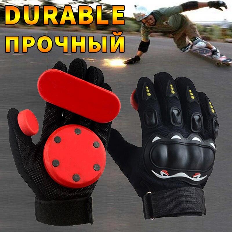 KUFUN Skateboard Gloves Downhill Slide Gloves Fire Stone Flint Sparks Longboard Gloves Protective Gear/Pad Downhill Slide Gloves
