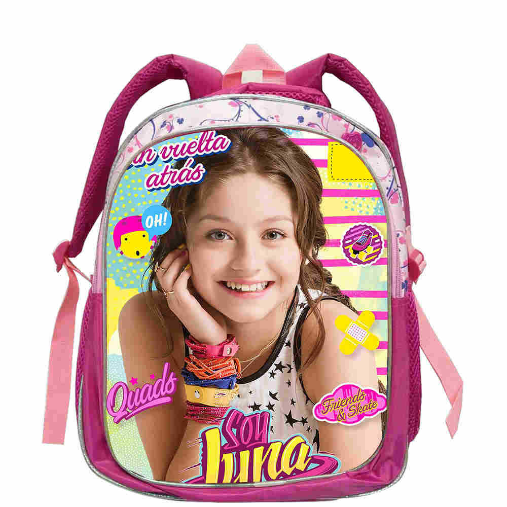 12.5Inch Soy Luna Backpack Famous TV For Boys Girls Teenager School Bags Fashion Pink New Mochila Bolsa