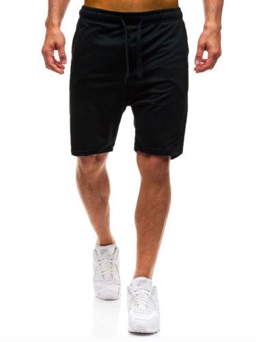 Hirigin 2018 New Casual Shorts Mens Plain Gym Fleece Jogger Shorts 3/4 Elasticated Waist Running Zip Pockets