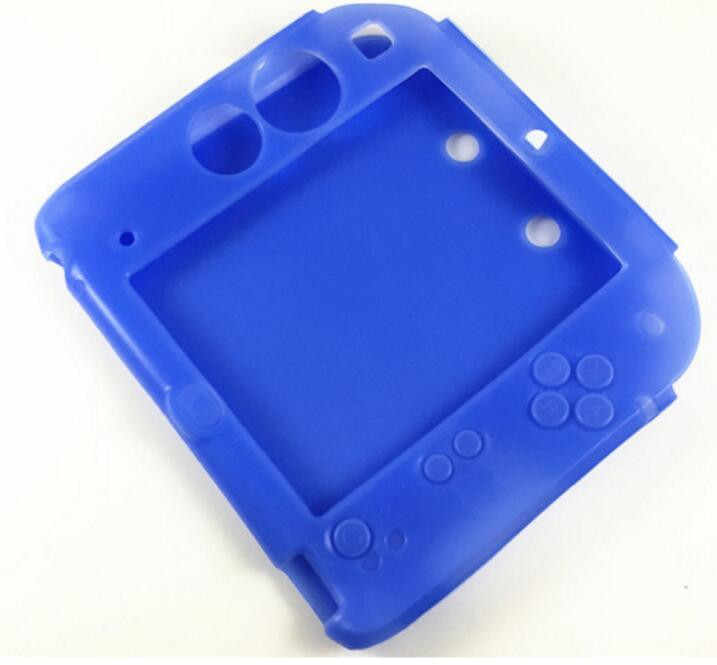 Купить с кэшбэком Blue Silicone case+Protect Clear Touch Film Screen Guard+Blue EVA Protector Hard Travel Carry Case Pouch bag for nintendo 2DS