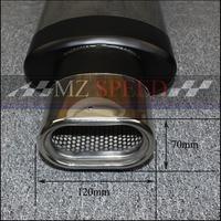 51mm Exhaust Pipe Car Muffler Polished Stainless Steel Burned Blue Silencer For Mercedes Benz BMW Honda Motor Muffler