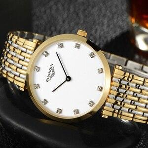 Image 4 - GUANQIN 2018 Watch Women Quartz Watch lady girl simple waterproof Montre Femme business steel top brand Unisex Relogio Feminino