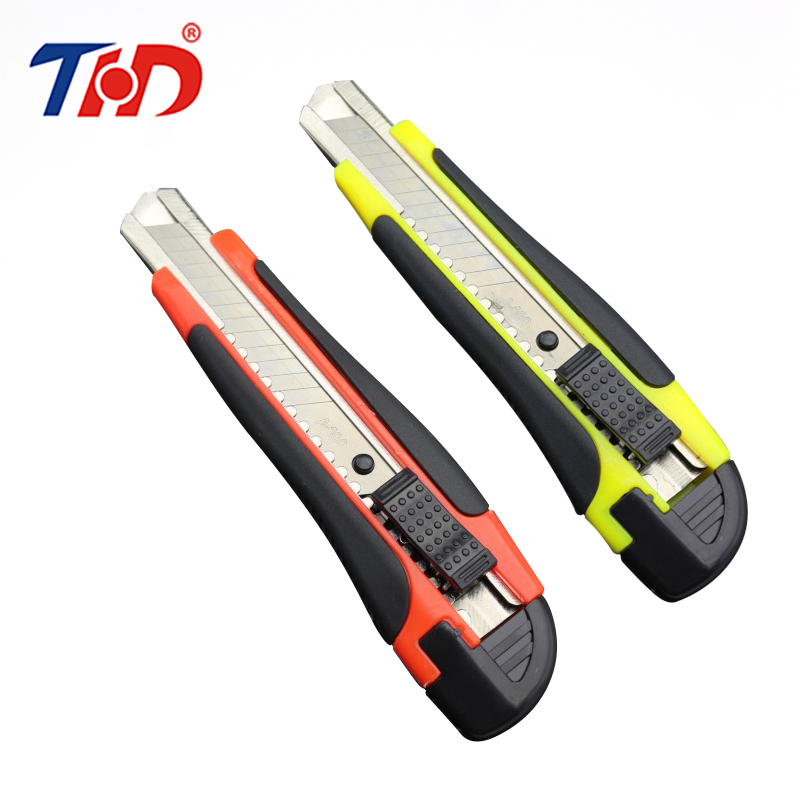 THD 1PC 6.5 Inches Metal Stationery Knife Paper Model Cutter Razor Blades Knife School Chancery Utility Knife With Wide Blade 1pc hot sale 100%quality guaranteed doner kebab slicer two blades electrical kebab knife kebab shawarma gyros cutter
