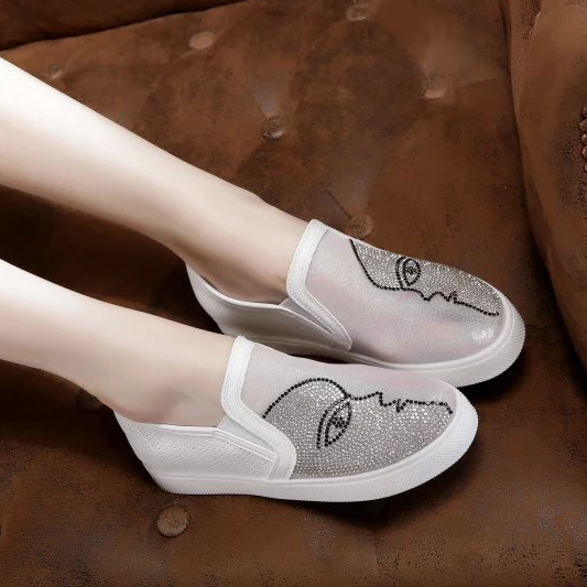 Perezosos La Retrato Planos Casuales Envoltura Hermosa Zapatos Mujer Verano Solo Cabeza 2017 De Pie Transpirable Gasa qf1wZw
