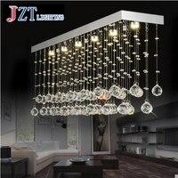 T Luxury Rectangular Spiral Crystal Ceiling Light G4 LED Bulbs Modern Creative Indoor Lighting For Foyer