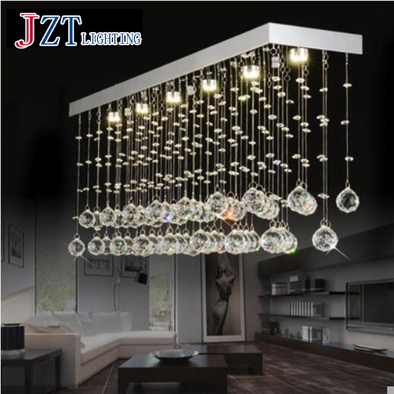 T Luxury Rectangular Spiral Crystal Ceiling Light G4 LED Bulbs Modern Creative Indoor Lighting For Foyer&Bedroom Hoter Project