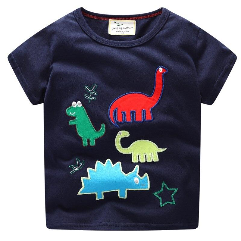 Для маленьких девочек футболка для мальчиков милый мультфильм динозавра с принтом короткий рукав Футболка детская одежда летние для мальч...