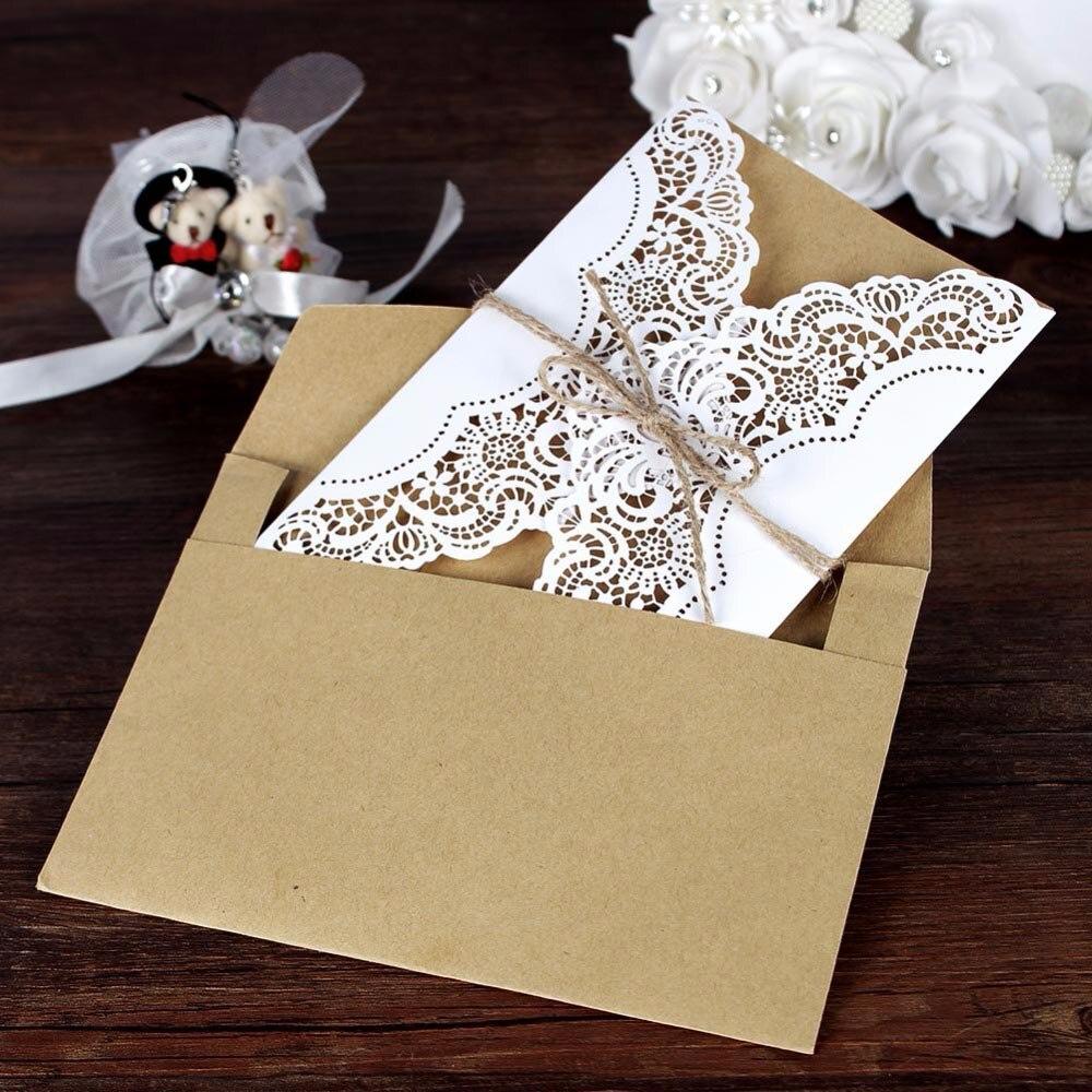 Cut Price 30pcsset Luxury Laser Cut Printable Wedding Invitations