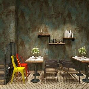 Image 5 - Papel tapiz De PVC para sala De estar, Papel tapiz 3D Retro gris cemento para restaurante, café, Papel De pared impermeable De Color liso, Papel De decoración Vintage