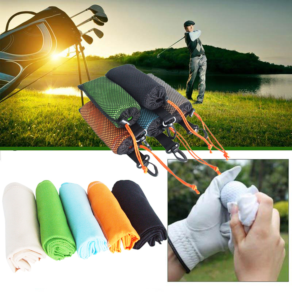 4065cm Microfiber Fleece Water Absorption Sport Golf Towel For Ball Comfortable Soft Hand With Hook Carabiner In Swimming Towels From Sports
