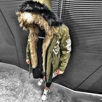 New Fashion Hot Brand Winter Jacket Men 2019 New Parka Coat Men Overseas Fur Hood Male Jacket Cold Casual Parks S 3XL