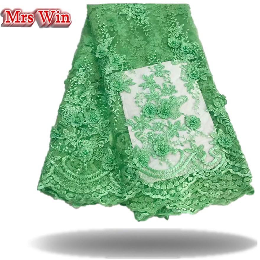 Appiques Roses Embroidery Net Lace Fabric For dress Cloth wholesale African French Tulle Lace For Wedding Garment Accessories
