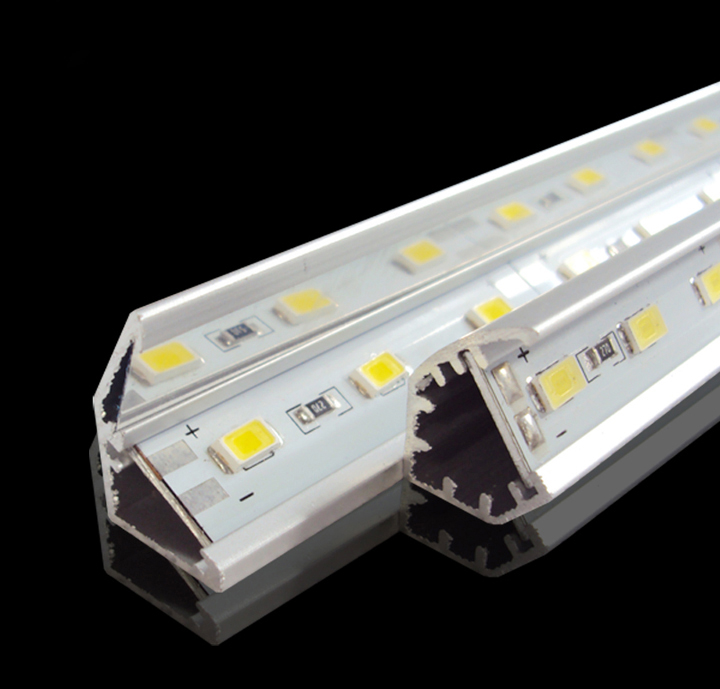 50m/lot 72LEDs/M SMD5730/ SMD5630 <font><b>LED</b></font> <font><b>Bar</b></font> Light <font><b>12</b></font> Volt Rigid Aluminum <font><b>LED</b></font> Strip Light With <font><b>V</b></font>-shaped Aluminum channel image