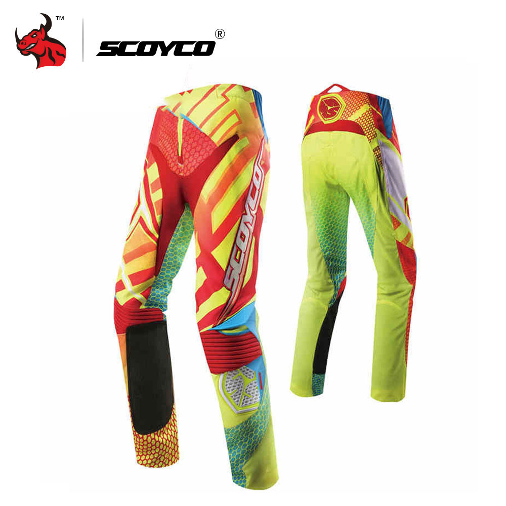 SCOYCO Professional Motocross Off-Road Racing Pants Motocross Racing Suit Breathable Motorcycle Pants Pantalon Motocross shipping car racing suit and f1 motorcycle karting club drift racing suit connected clothes professional racing suits