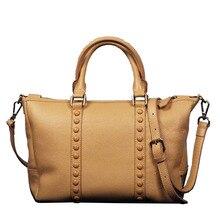 Real Rindlederhandtasche frauen Aus Echtem Leder Lächeln tasche Eine kreuzkörper Schulter Bag Kapazität Messenger Bags für Dame