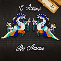 1set New Colorful Mighty Phoenix Lace Embroidery Cloth Patch DIY Accessories Birds Phoenix Cloth Paste AC496