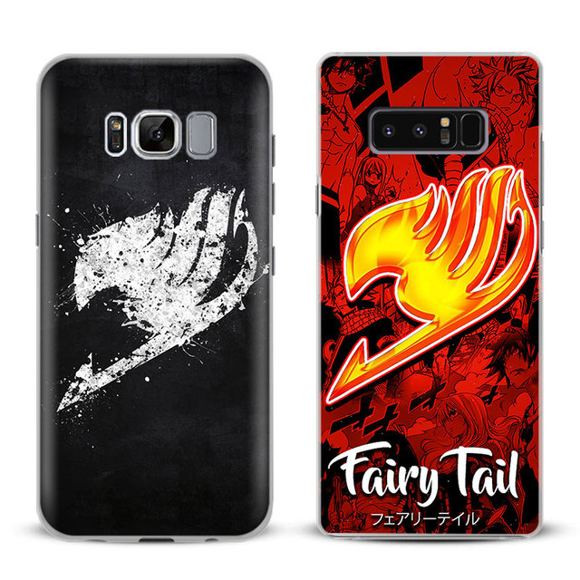 quality design b3320 8b595 US $2.55 9% OFF|Fairy Tail Natsu Logo Phone Case Cover Shell For Samsung  Galaxy S4 S5 S6 S7 Edge S8 Plus Note 8 2 3 4 5 A5 A7 J5 2016 J7 2017-in ...