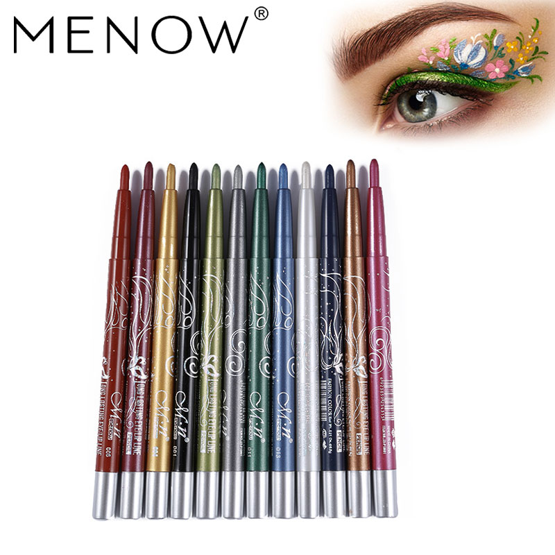 MENOW 5pcs Makeup set Whitening BB cream &12 Colors Eye shadow &Waterproof Mascara Eyeliner kit &Matte lipstick &Eyebrow 5464 1