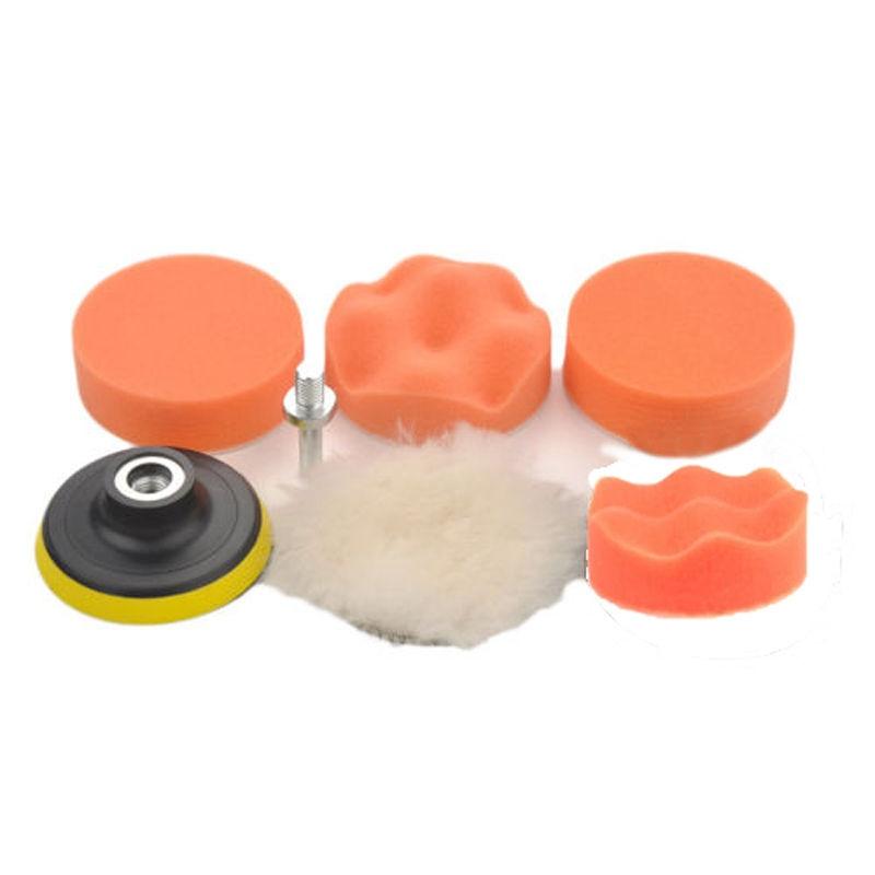 цена на 7pcs 3inch Car Polishing Pad Set Waxing Sponge Buffer Polish Pads Drill Adapter Kit for Car Polisher+Drill adapter Set