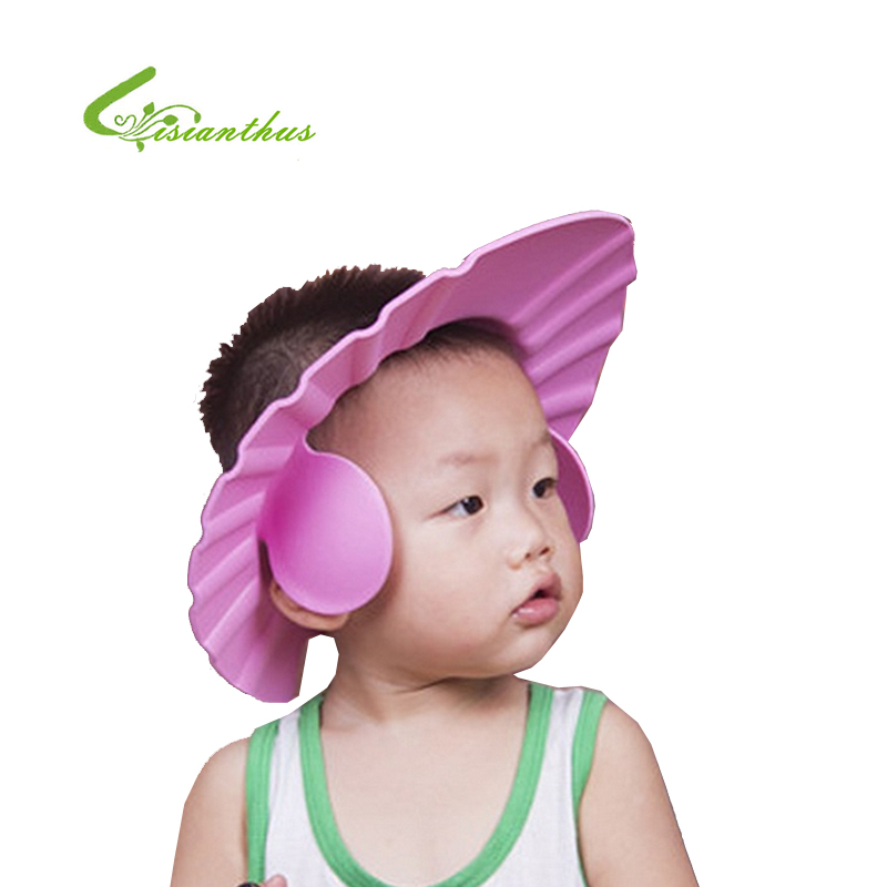 Baby Care Adjustable Kids Shower Cap Baby Eva Soft Kids Shampoo Bath Shower Cap Hat Baby Care Bath Protection For Kid Shower Accessory High Quality Goods