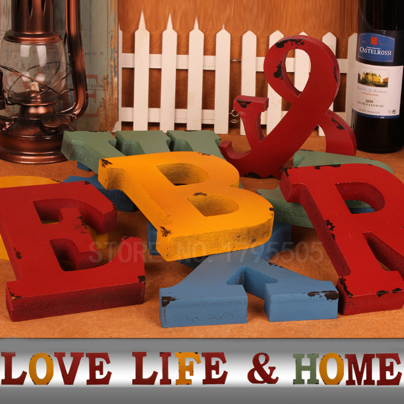 Creative diy retro decoration thick letters for for Decoration 5 letters