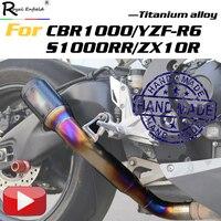 Мотоцикл slip on глушитель изготовление под заказ titanium сплав ЭСКАТО для Honda cbr1000 yamaha yzf r6 bmw s1000rr kawasaki zx10r