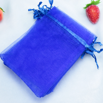 1000pcs/lot Royal Blue Organza Bags 9x12cm Tulle Jewelry Package Pouches Small Wedding Favor Candy Gift Bag Packaging Bags