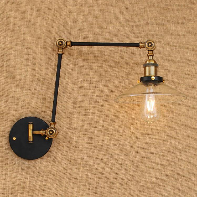 Sconces Loft Retro Vintage Wall Lights Fixtures Adjustable Swing Long Arm Light Edison Industrial Wall Lamp Appliques Murales