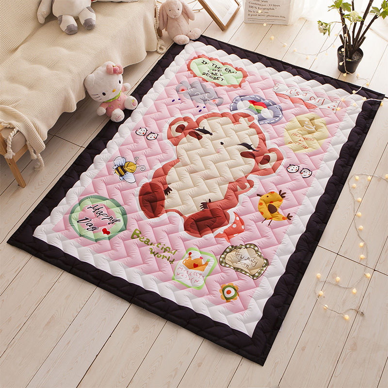2.5cm Thick Baby Playmat Nursery Soft Crawling Play Mats Creeping Mat Kids Play Rugs Children Room Decorative Floor Carpet Pads ins 95cm baby play mat cotton kids play game mats playmat round children s rugs baby gym playmat floor carpet for crawling
