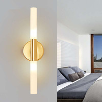 G9 Led Luminaire 2 light Wall sconce for walkway led wall light Lamp gold finished Wrought Iron wall lamp Lampara Pared