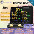 EPM6600-T External shunt 50A/10kw / Multicolour digital  AC energy meter with  thermometer /kwh meter