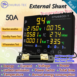 Image 2 - EPM6600 T External shunt 50A/10kw / Multicolour digital  AC energy meter with  thermometer /kwh meter