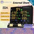 Epm6600-t externa shunt 50A / 10kw / multicor digital AC medidor de energia com termômetro / medidor de kwh
